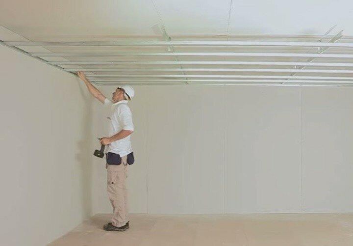 Монтаж потолков из гипсокартона. Видео и инструкция