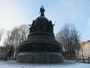 Памятник Тысячилетие России - Новый год в Великом Новгороде