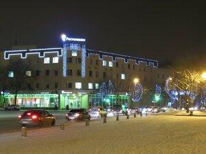 Вечерняя подсветка - Новый год в Великом Новгороде