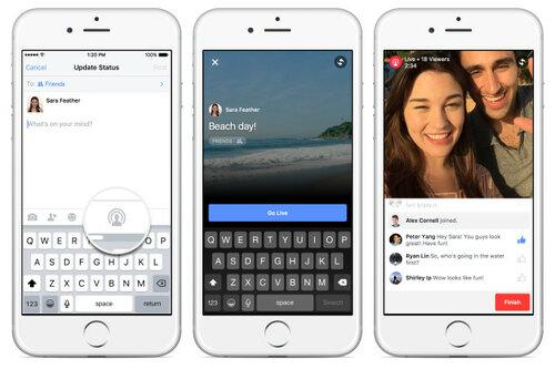 Прямые трансляции в Facebook станут доступны рядовым пользователям