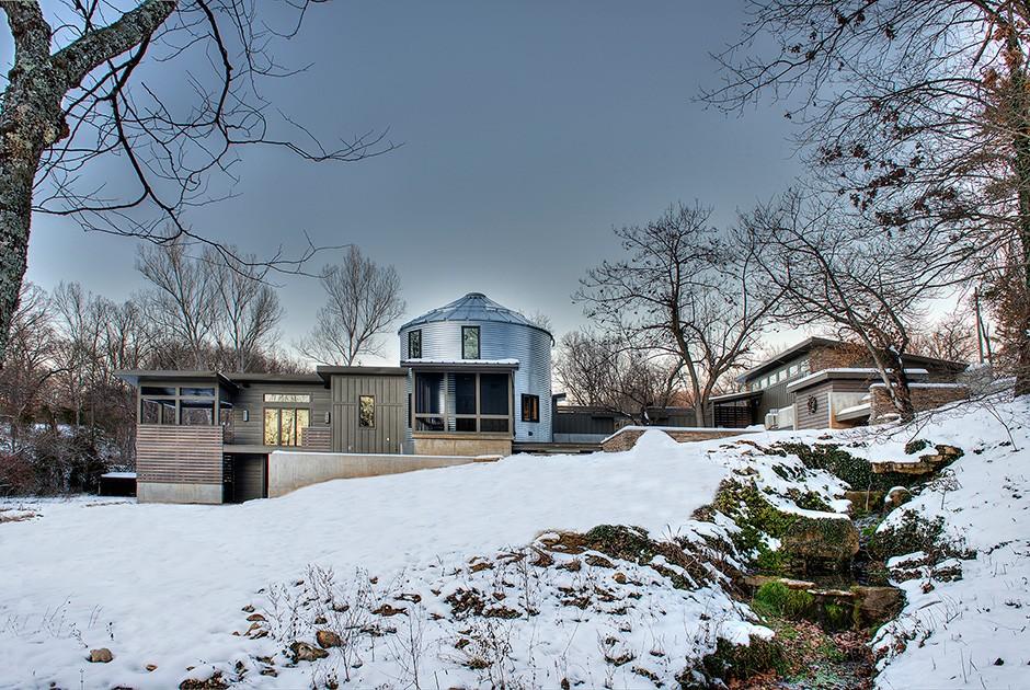 Проект Randy Colwell бюро Monticello Custom Homes and Remodeling Круглых зерновых бункеров в америка