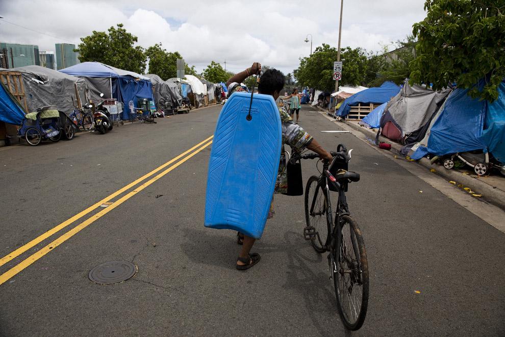 Лагерь для бездомных в штате Нью-Мексико.