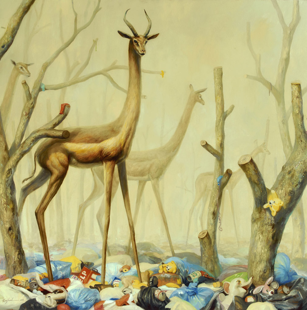Fantastical Paintings of Animals Within Post-Apocalyptic Environments by Martin Wittfooth