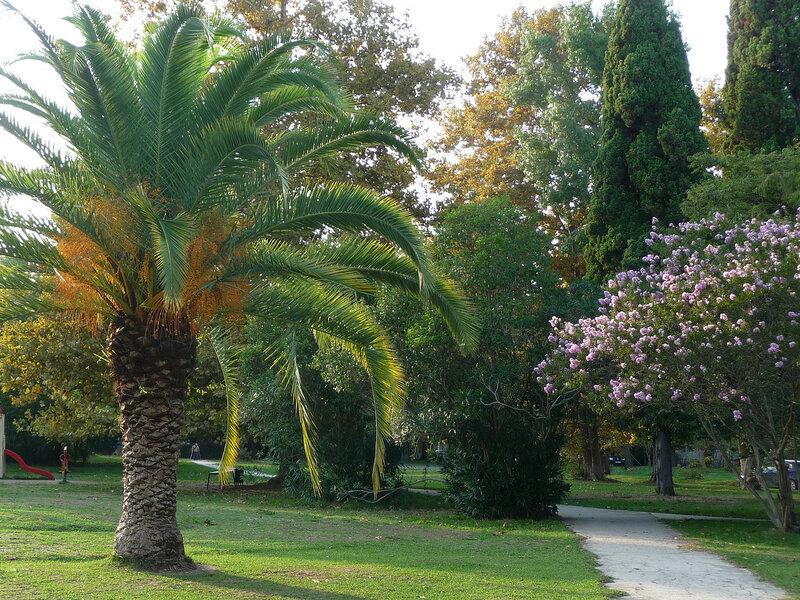 Парк возле крепости