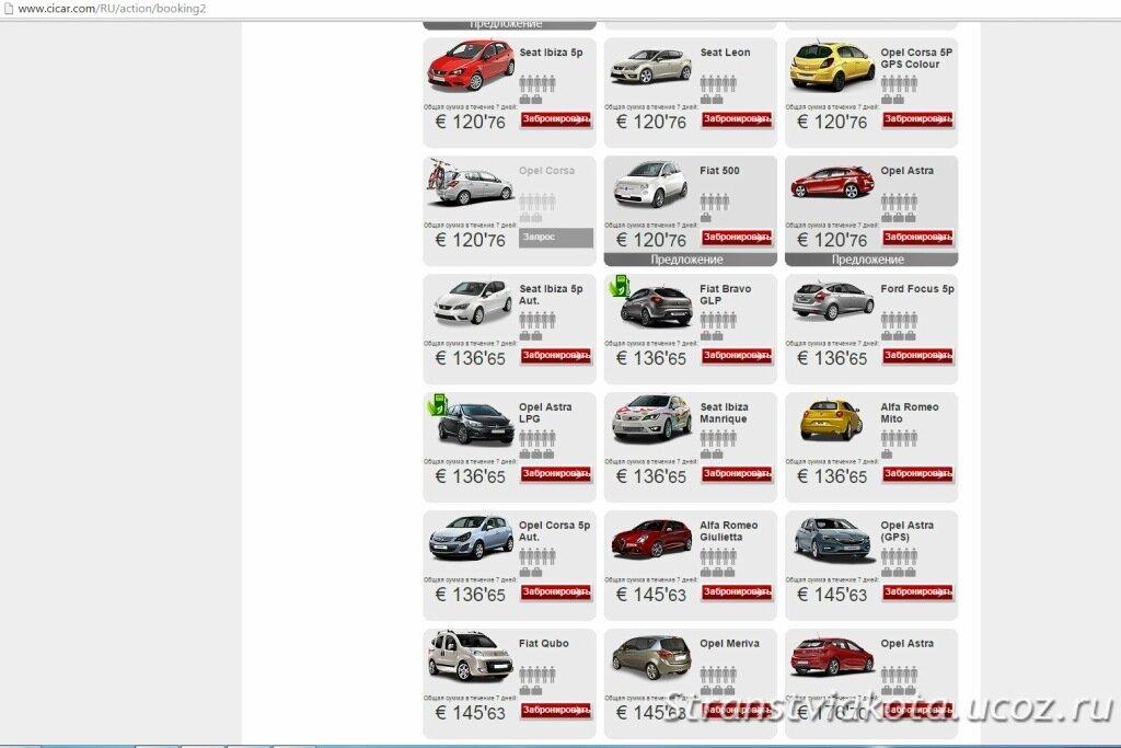 Аренда машины в Cicar на Тенерифе stranstviakota.ucoz.ru