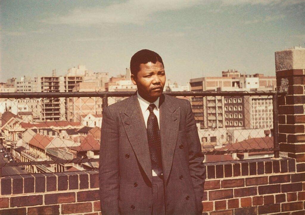 Mandela as a young law clerk in Johannesburg, 1953.Ahmed Kathrada - Herbert Shore.jpg