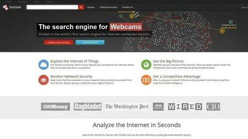 Канадский поисковик Shodan показывает видео с частных веб-камер любому пользователю