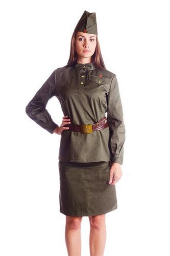 Женский карнавальный костюм Военная форма