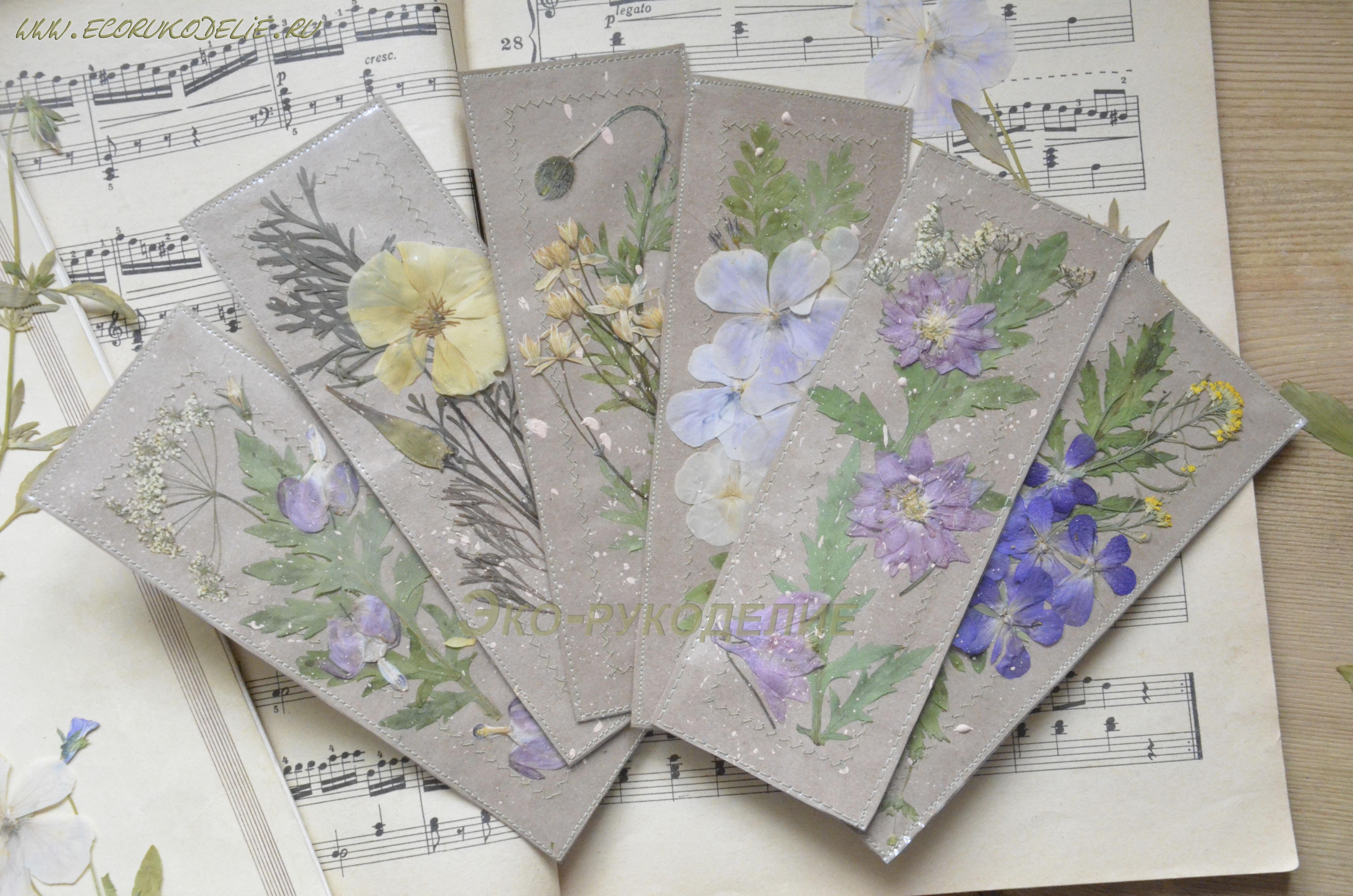 Закладки с гербарием