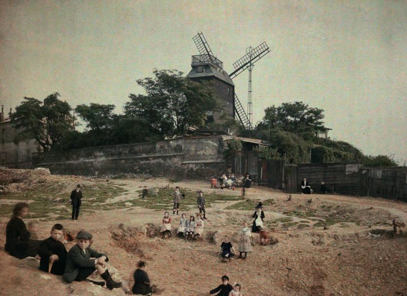 Ветряная мельница «Мулен де ла Галетт», Монмартр.