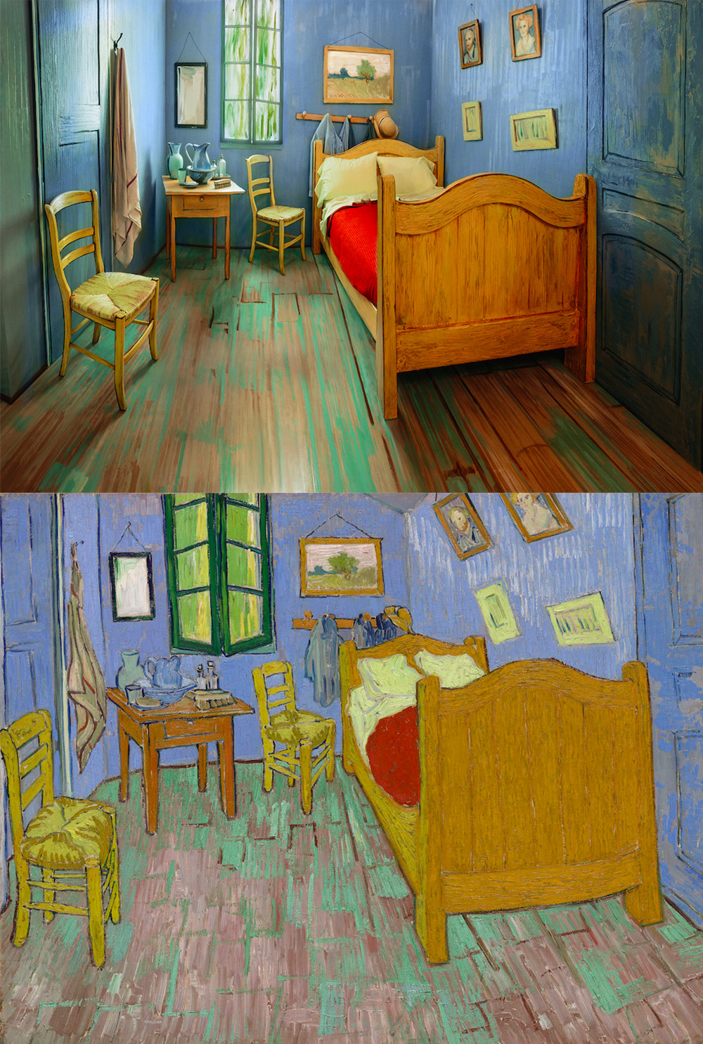 Комната, созданная Институтом Чикаго по образу и подобию «Спальни в Арле», находится за пределами му
