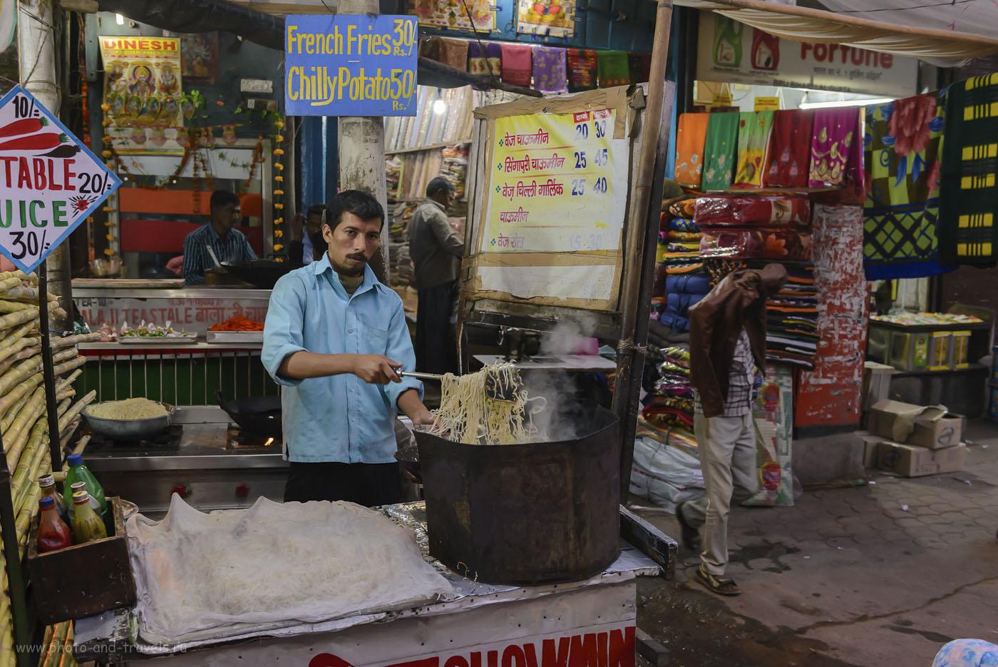 Фото 20. Как и в Таиланде, или в Китае, на улицах индийских городов готовят «макашники». Хотя, они не так распространены, как в других странах Азии. 1/125, -0.33, 4.5, 4000, 24.