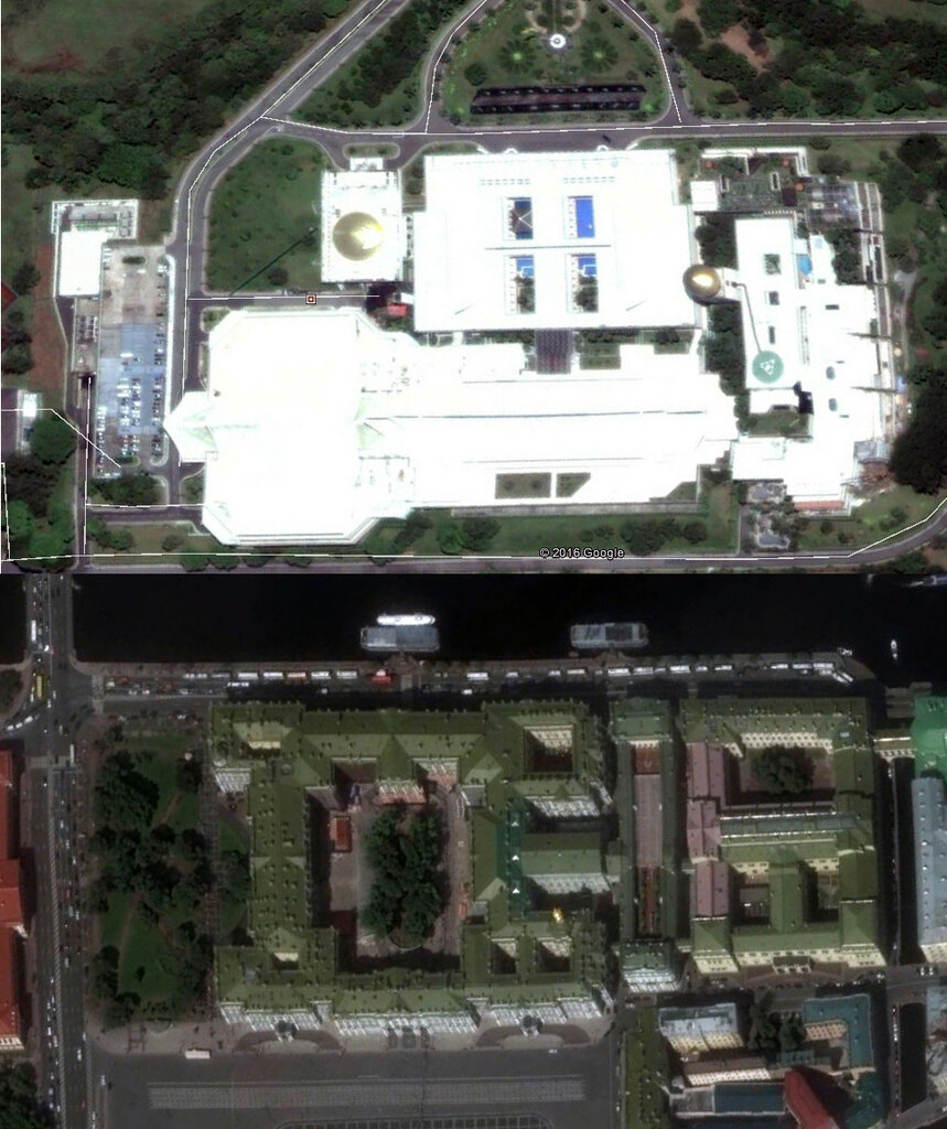 Эрмитаж и дворец султана Брунея..