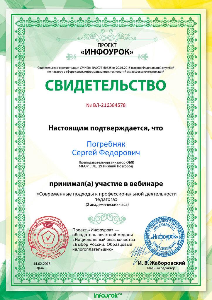 Свидетельство проекта infourok.ru № ВЛ-216384578.jpg
