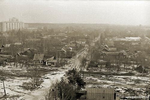 Старое #Солнцево, Верхняя улица Слева вверху дома Солнцевского проспекта Фото от Рушана Зарипова