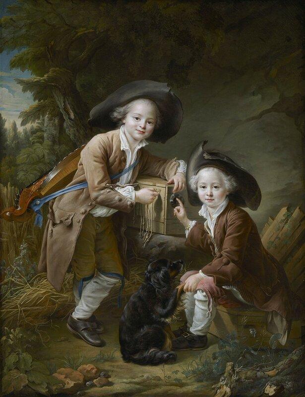 Франсуа-Юбер Друэ, Граф и шевалье де Шуазель в образе савояров, 1758 г.