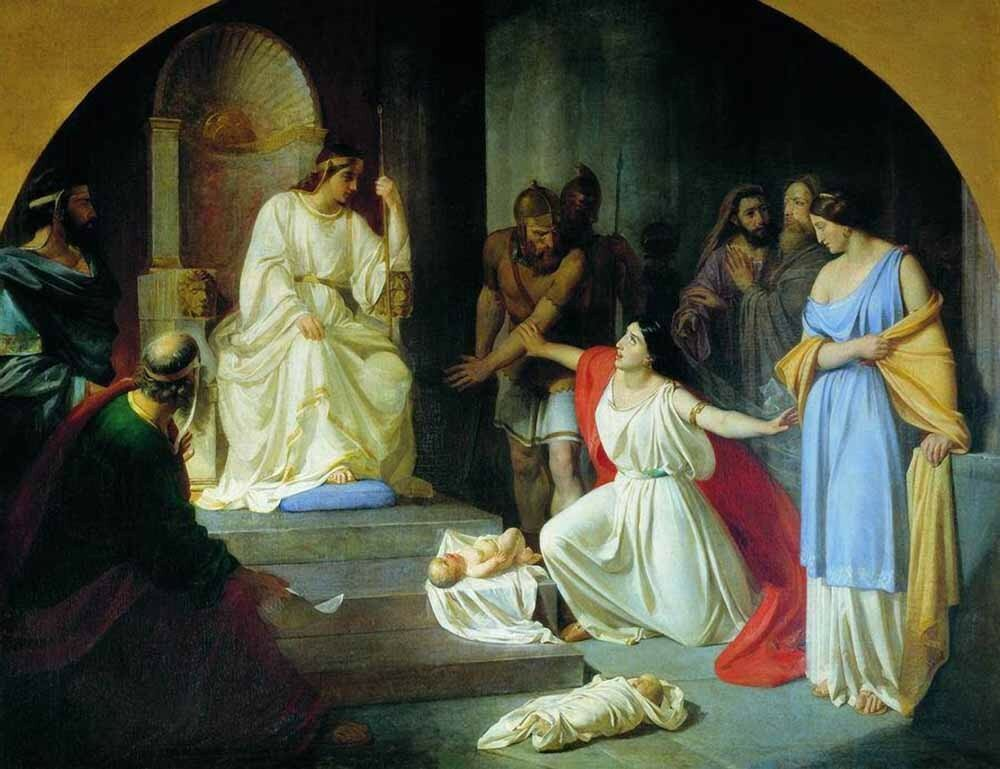 «Суд царя Соломона»1854