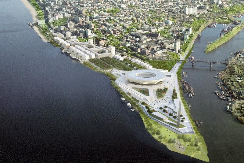 Территория самарского стадиона. Концепция генерального плана