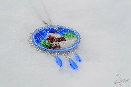 Альбом пользователя Юленька_Лебедь: Кулон зимний вышивка8.JPG