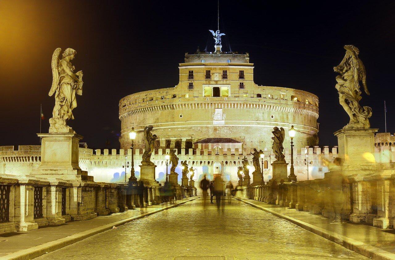 Рим. Мост и замок Святого Ангела