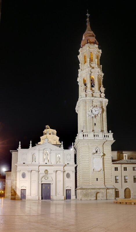 Ночная Сарагоса. Кафедральный собор Ла Сео (Catedral del Salvador)