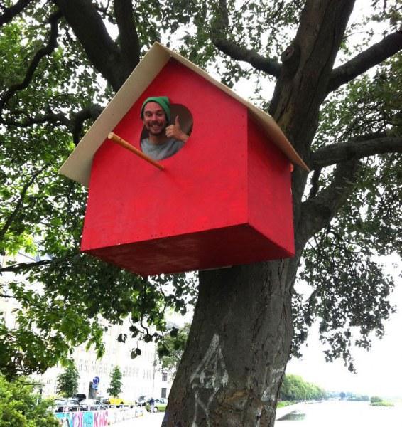 Парень с большим сердцем делает скворечники для всех птиц в городе