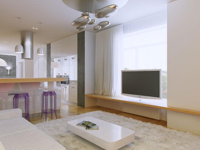 Дизайн интерьера в светлых оттенках фото 26