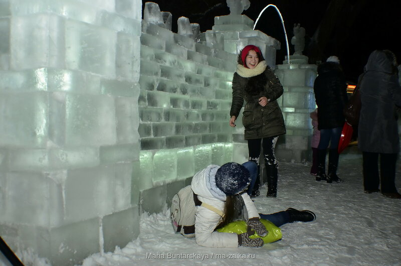 Открытие ледяной крепости, Саратов, городской парк культуры и отдыха, 19 января 2016 года