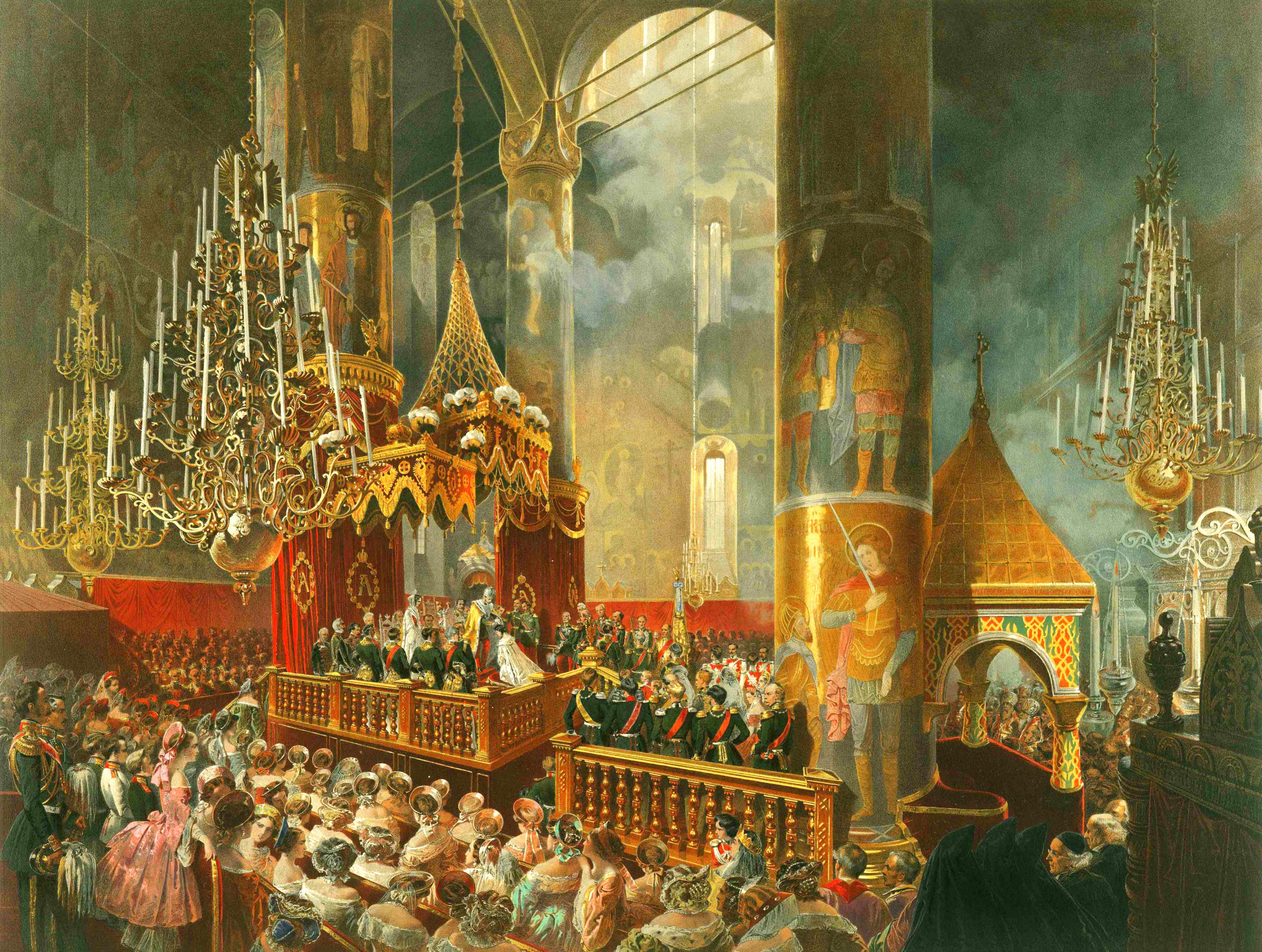 Зичи М. А. Коронование Государыни Императрицы