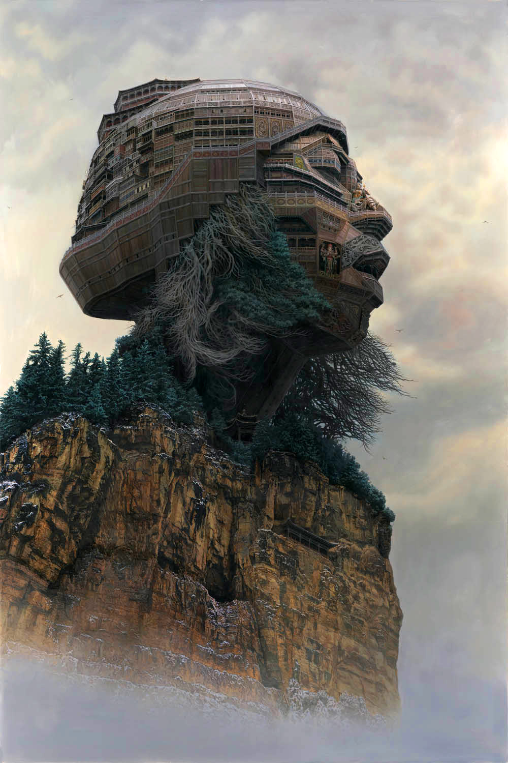Portraits of Chinese Rockstars Imagined as Monumental Temples