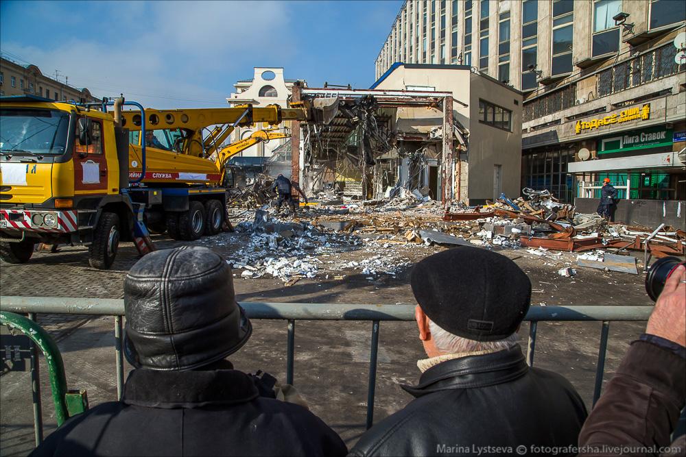 Demolition of the Pyramid at Pushkinskaya