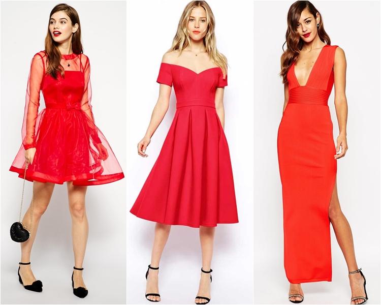 Платья красные на выпускной 2016