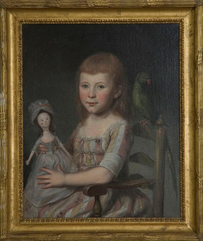 Девочки с куклами в живописи XVIII века