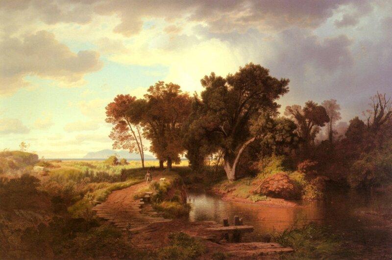 Андреас Ахенбах, Осеннее утро на болотах близ Поти
