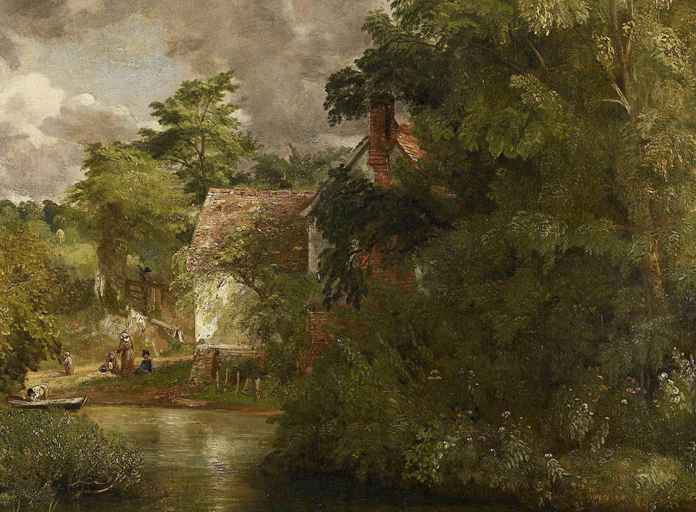 """John Constable""""s Willy Lott's House from the Stour (The Valley Farm)"""