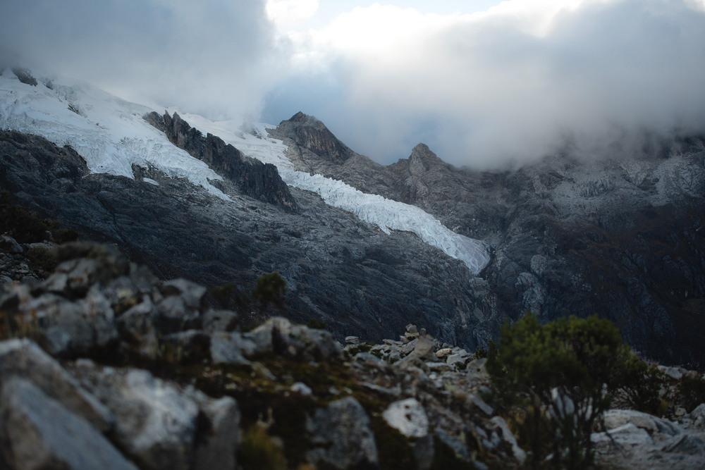 Ночь у подножья ледника