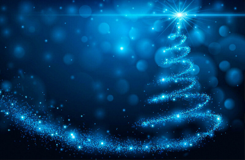 Christmas blue background 2