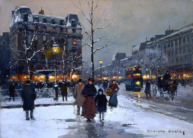 Парижанка и Париж.Paris painting.
