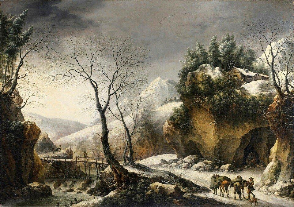 Зимний пейзаж (Winter Landscape)_100 х 132_х.,м._Частное собрание.jpg