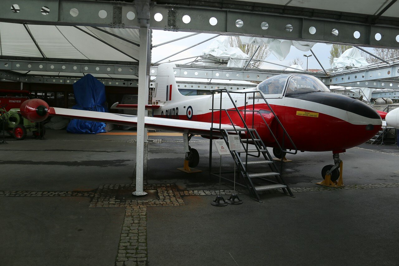 Istanbul, Rahimi M.Koch museum. Jet training aircraft Jet Provost T3A
