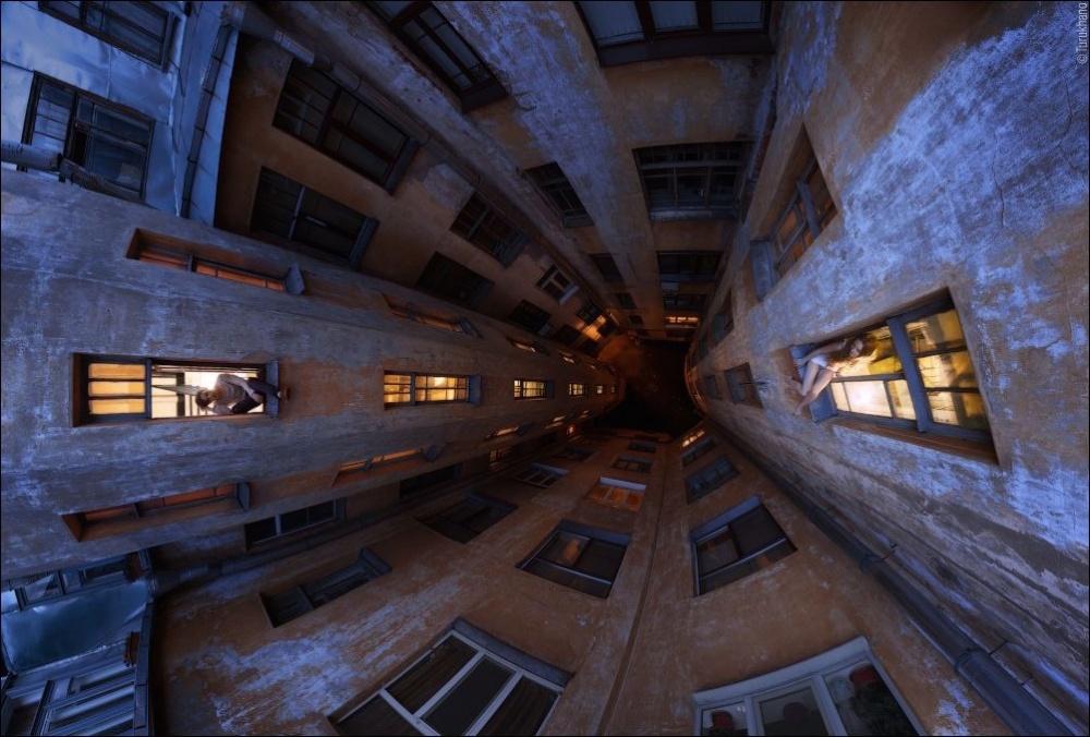 © (с) Иван Турухано  Световые столбы— редкое атмосферное явление