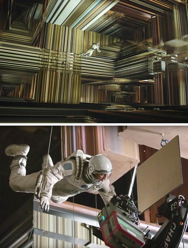 Сцена из фильма «Интерстеллар», в которой герой попадает в тессеракт — четырехмерный куб — внутри че