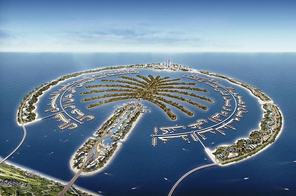 Насыпной искусственный остров сдан под застройку в конце 2007 года. Он на 50% крупнее Джумейры. В пр