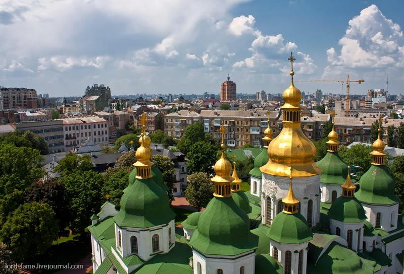 Киев. Виды с колокольни Софийского собора.