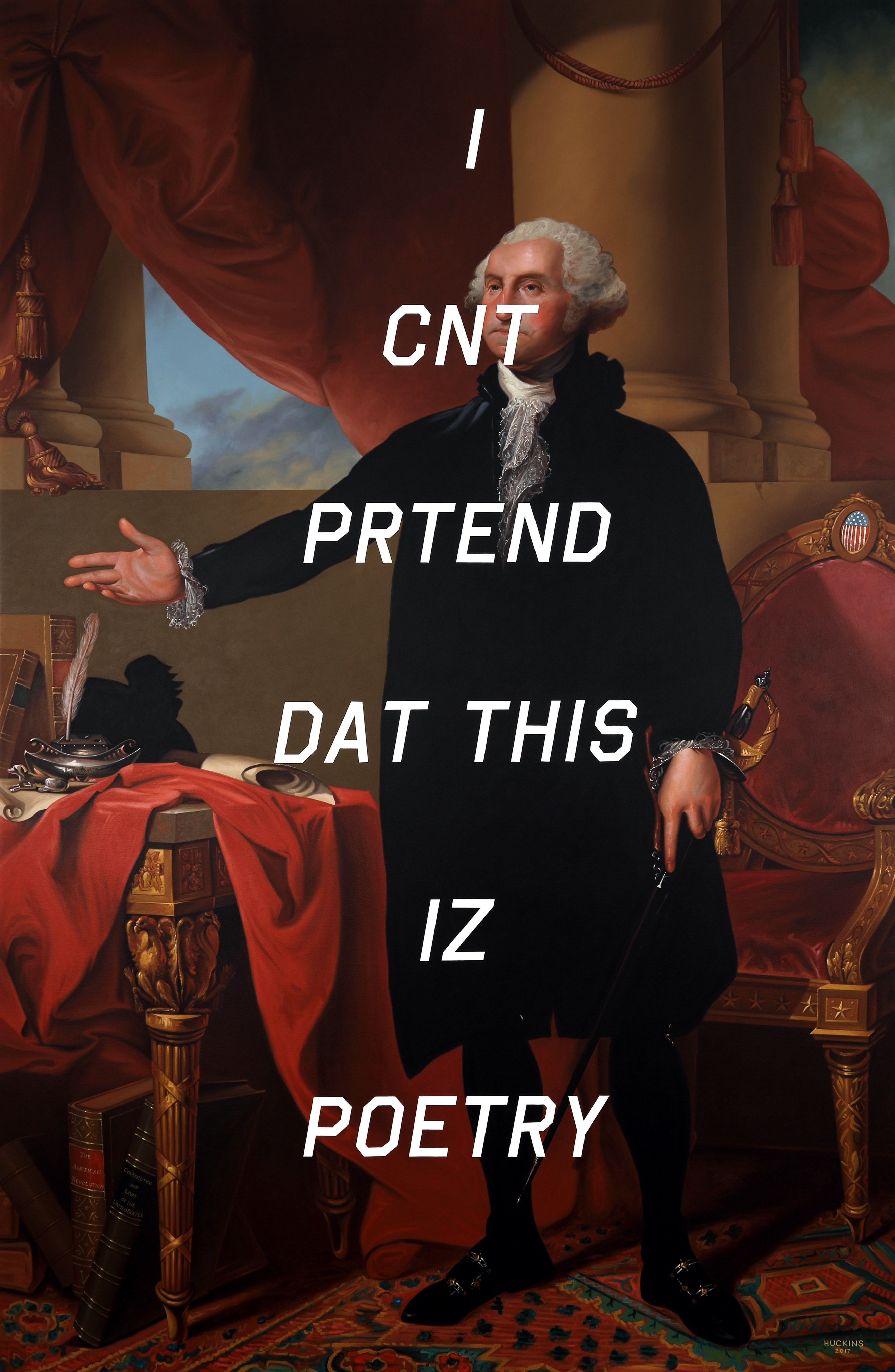Social Media Meets American History in Shawn Huckins' series Athenaeum