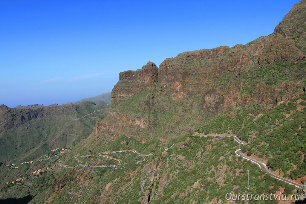 Дорога в ущелье Маска, Тенерифе