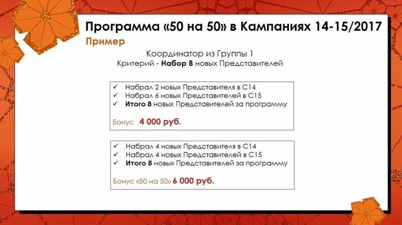Программа для Координаторов 50 на 50