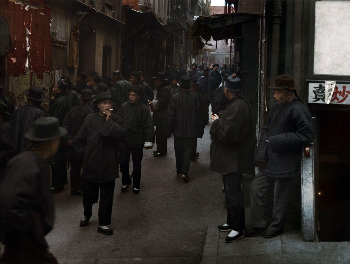 1896. «Улица игроков», Чайнатаун, Сан-Франциско