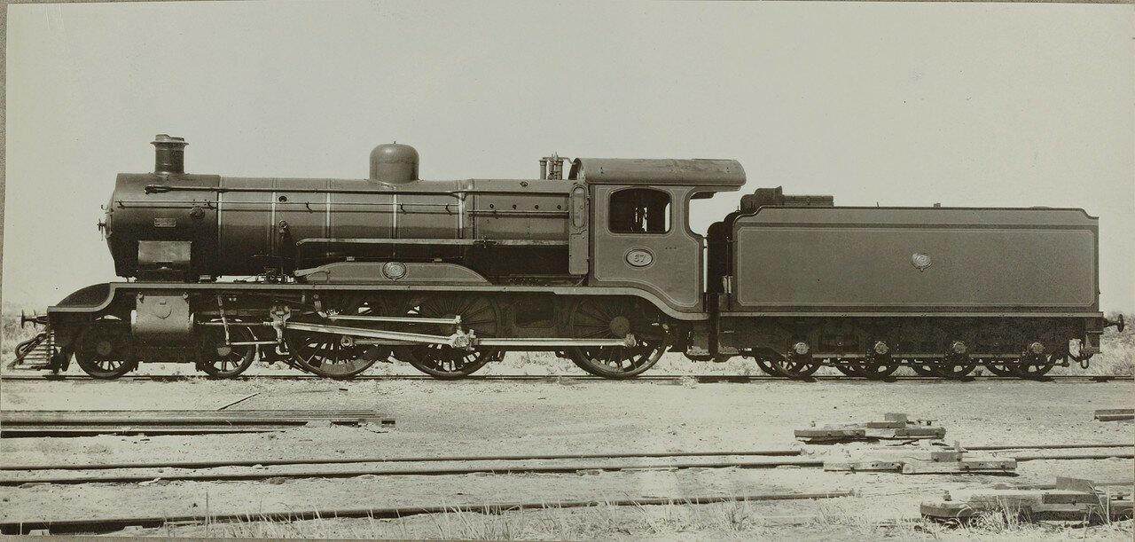 1910-1920. Локомотив компании «Linke-Hoffmann» из Бреслау. Машины были типично британского облика, только двигатель был немецким. Они в основном использовались в экспресс-службах между Каиром и Александрией