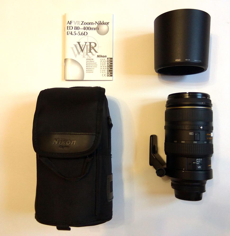 Продаю свой телеобъектив Nikon AF 80-400 мм f/4.5-5.6D ED VR